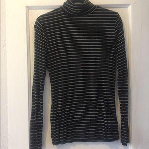 Black striped turtleneck